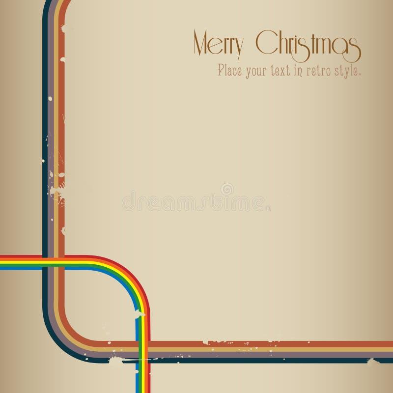 Rétro fond de Joyeux Noël. illustration stock