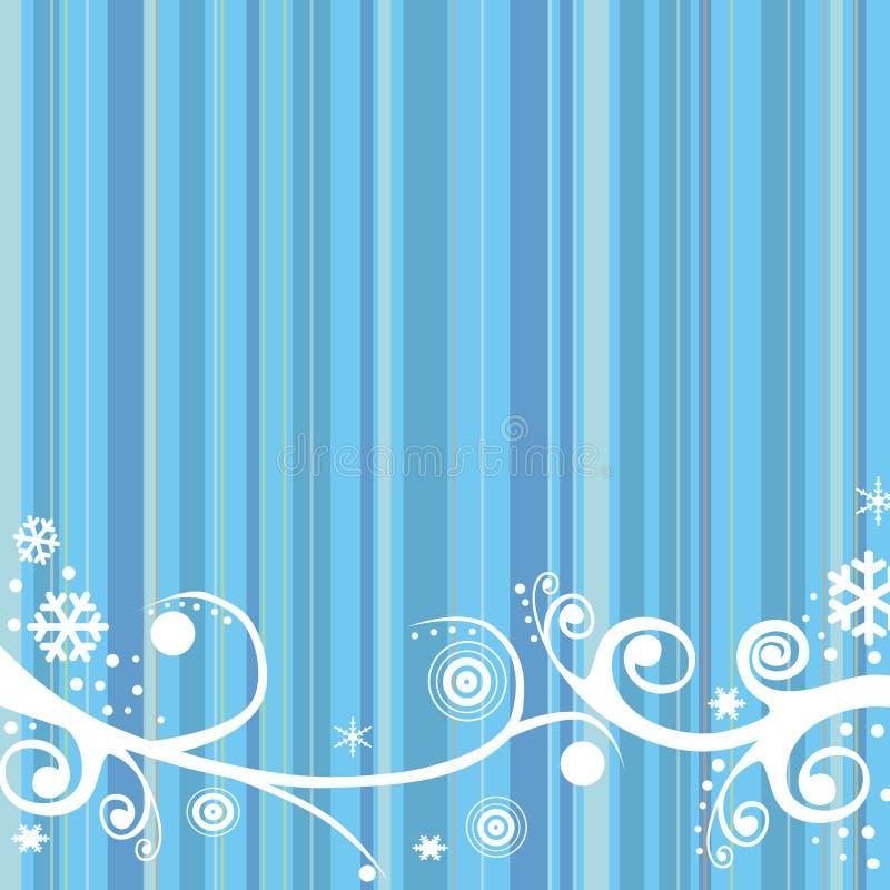 rétro fond de l'hiver illustration de vecteur