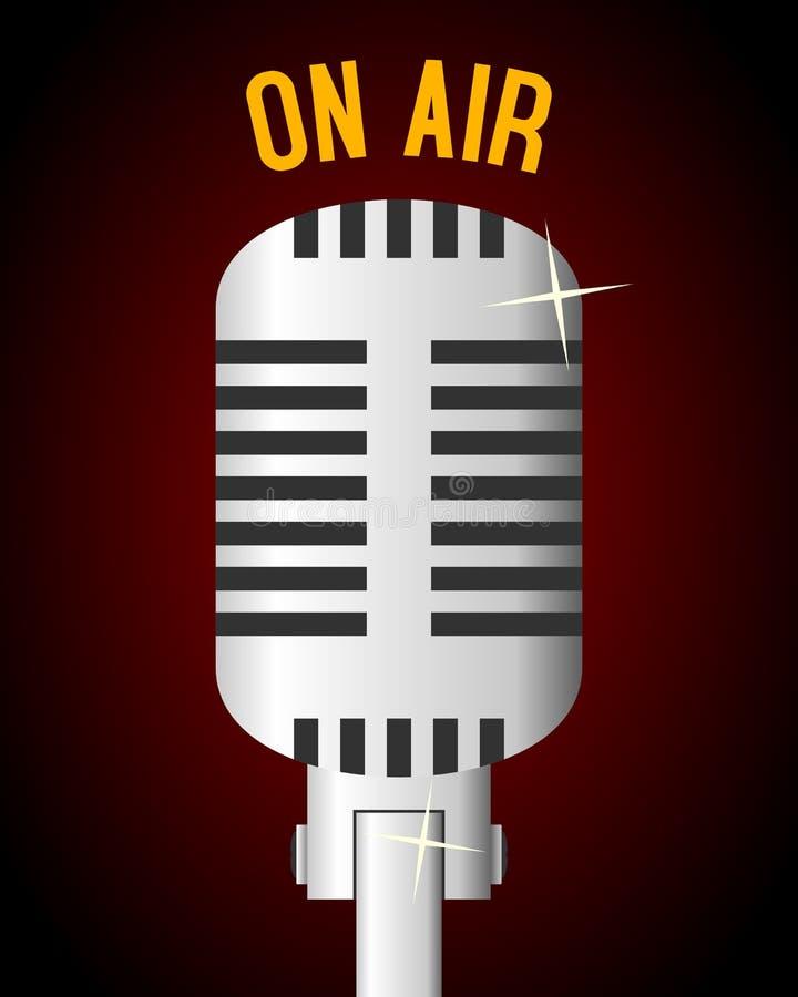 Rétro fond de microphone illustration de vecteur