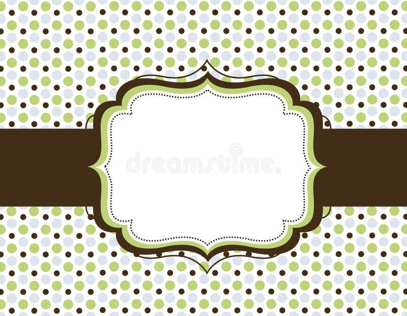 Rétro fond de point de polka illustration de vecteur