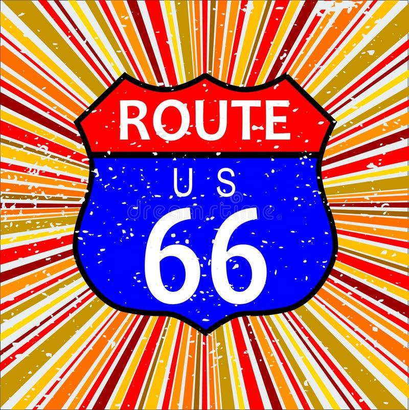 Rétro fond de Route 66 illustration libre de droits