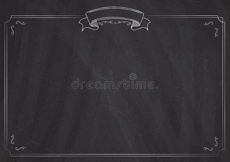 Rétro fond de tableau noir de menu de vecteur illustration stock