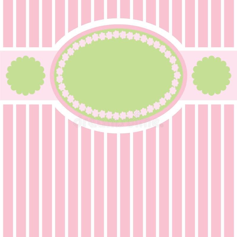 rétro fond doux Vert-rose illustration libre de droits