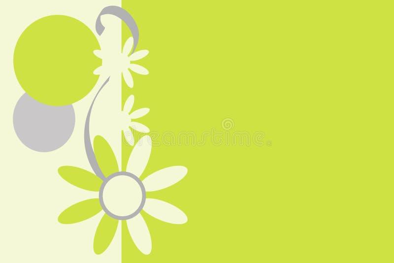 Rétro fond fleuri. illustration libre de droits