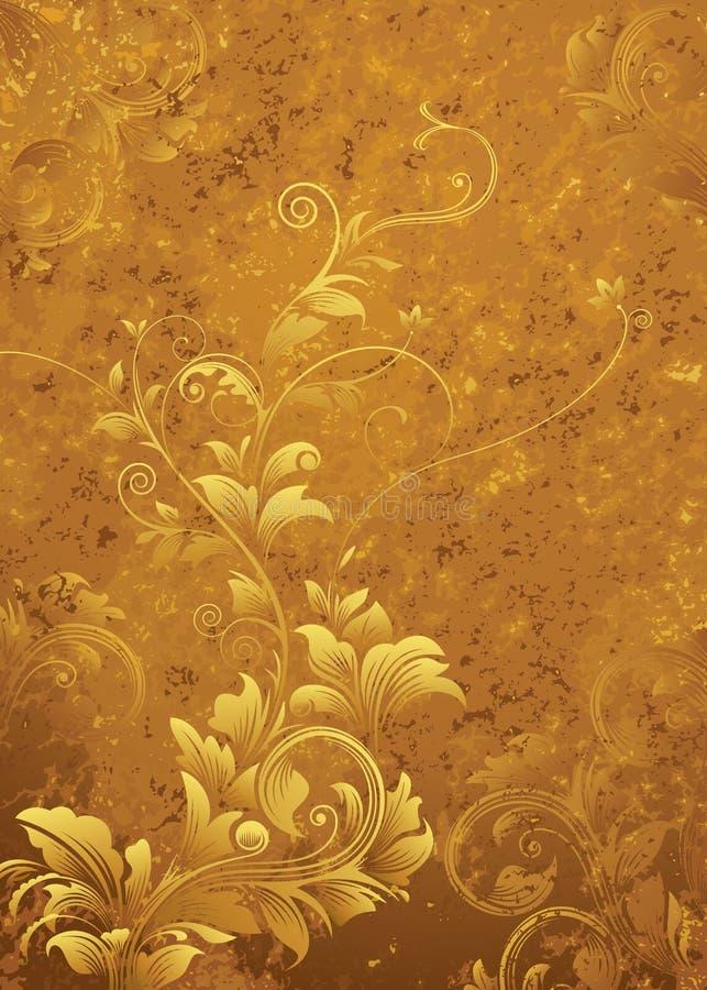 Rétro fond floral illustration libre de droits