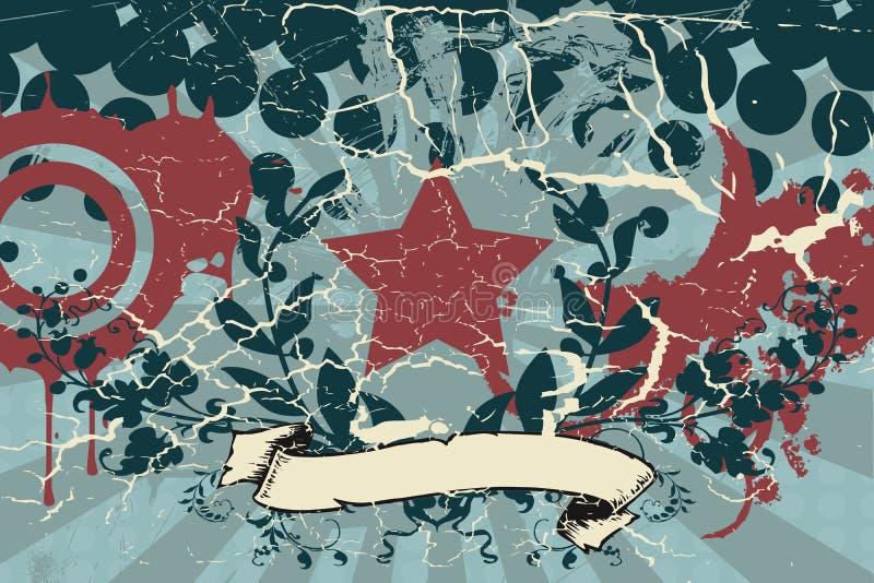 Rétro fond grunge illustration de vecteur