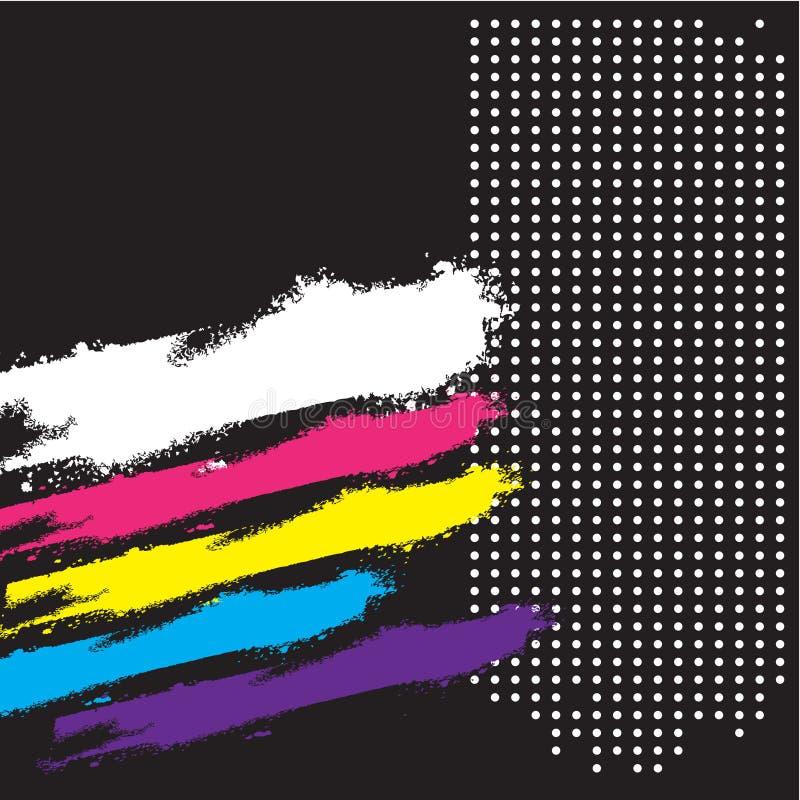 Rétro fond grunge abstrait, cache, drapeau illustration de vecteur