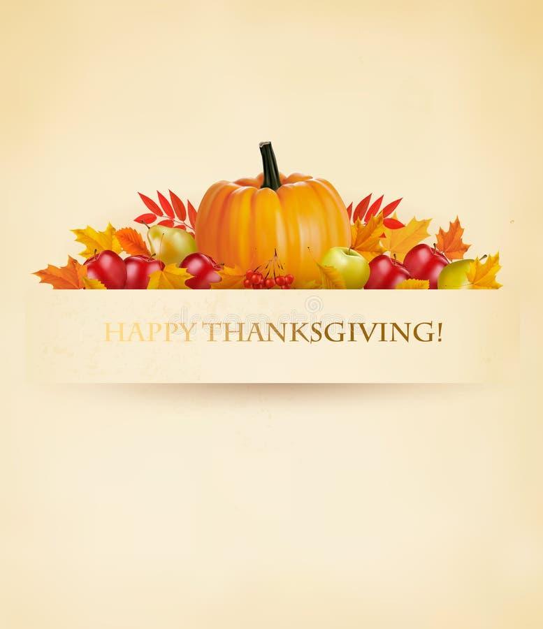 Rétro fond heureux de thanksgiving illustration libre de droits