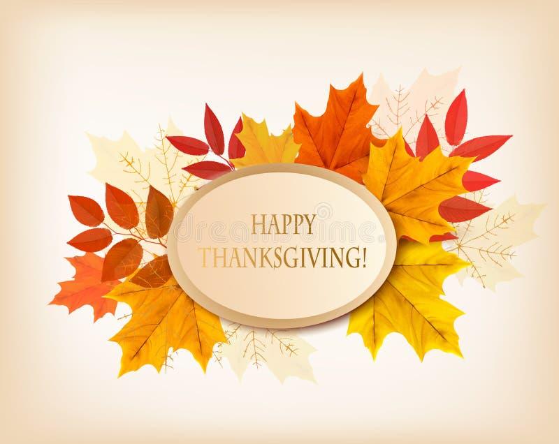 Rétro fond heureux de thanksgiving illustration stock