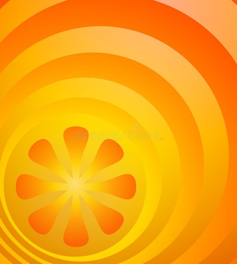 Rétro fond orange lumineux illustration libre de droits