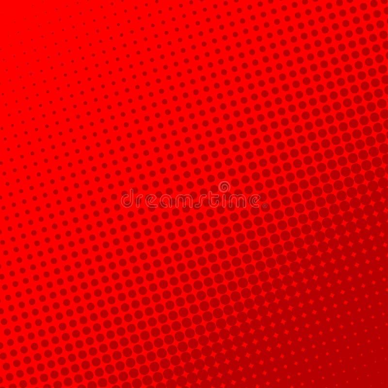 Rétro fond rouge de page de bande dessinée Effet tramé illustration de vecteur