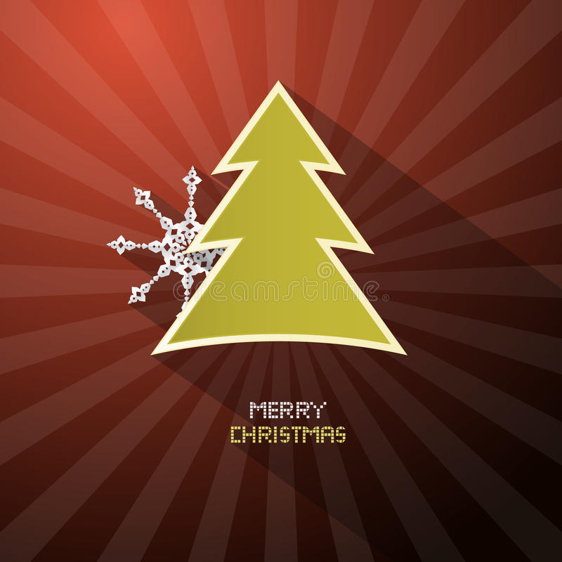 Rétro fond rouge foncé de Joyeux Noël de vecteur illustration libre de droits