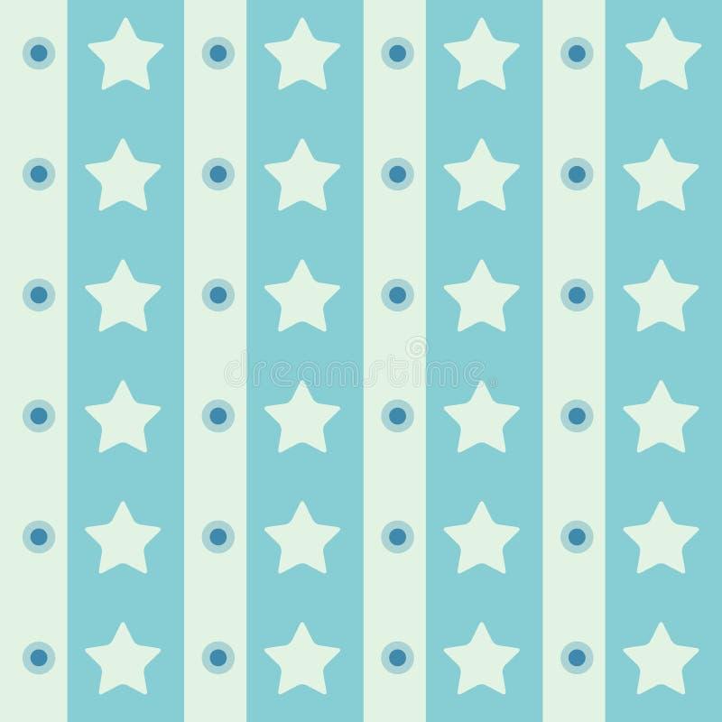 Rétro fond sans couture géométrique abstrait d'étoile de polka Illustration de vecteur photographie stock libre de droits