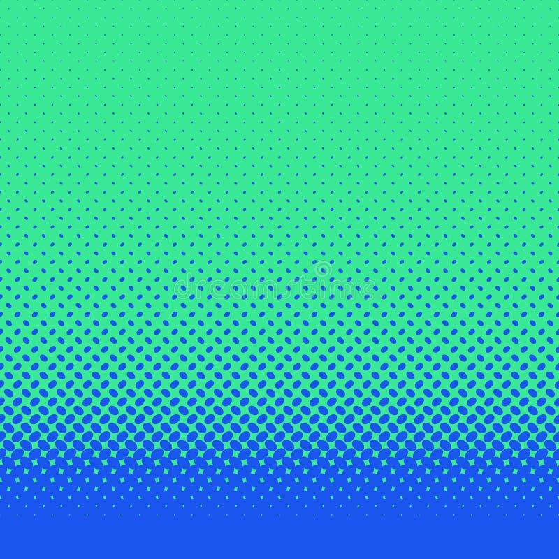 Rétro fond tramé abstrait de modèle d'ellipse - dirigez la conception avec les points elliptiques diagonaux illustration stock
