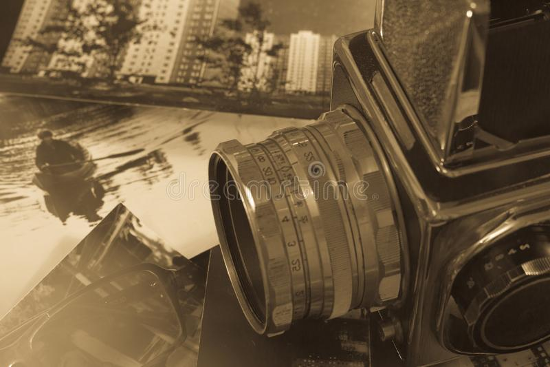 Rétro format de milieu d'appareil-photo photo libre de droits