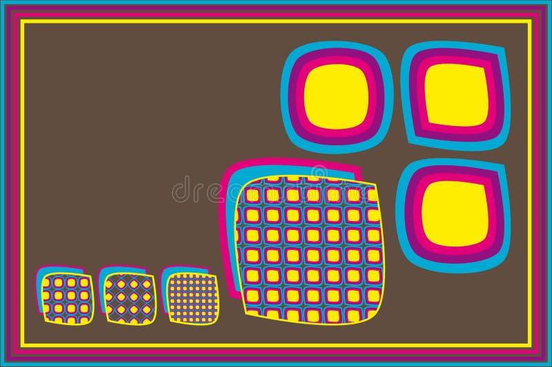 Rétro formes de grands dos illustration de vecteur