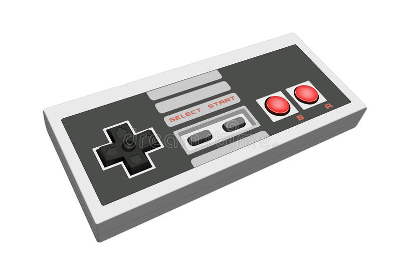Rétro gamepad illustration stock