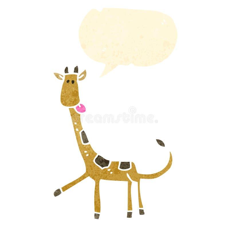 rétro girafe de bande dessinée illustration libre de droits