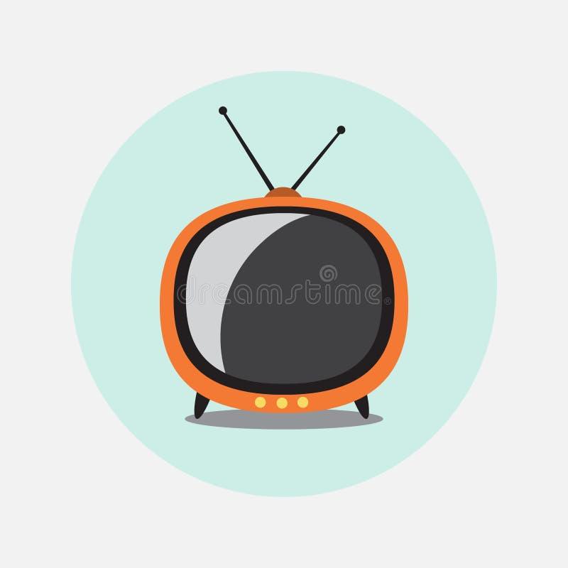 Rétro graphisme de TV images libres de droits
