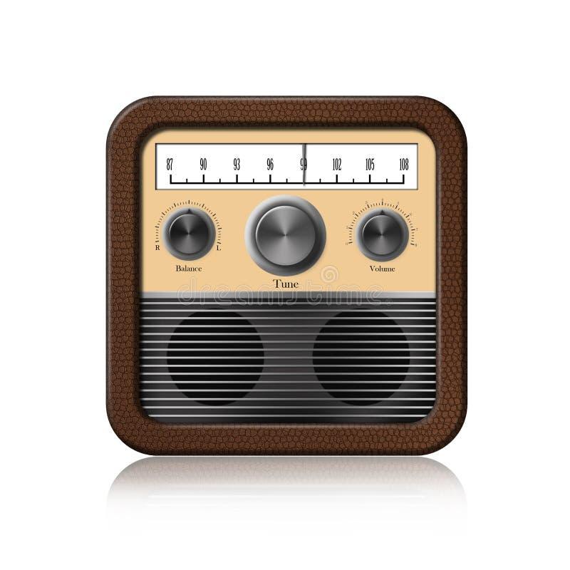 Rétro graphisme par radio sur le fond blanc illustration libre de droits