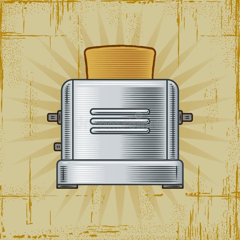 Rétro grille-pain illustration libre de droits
