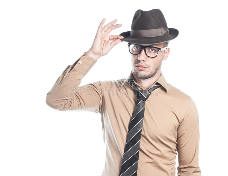 Rétro homme d'affaires américain images stock