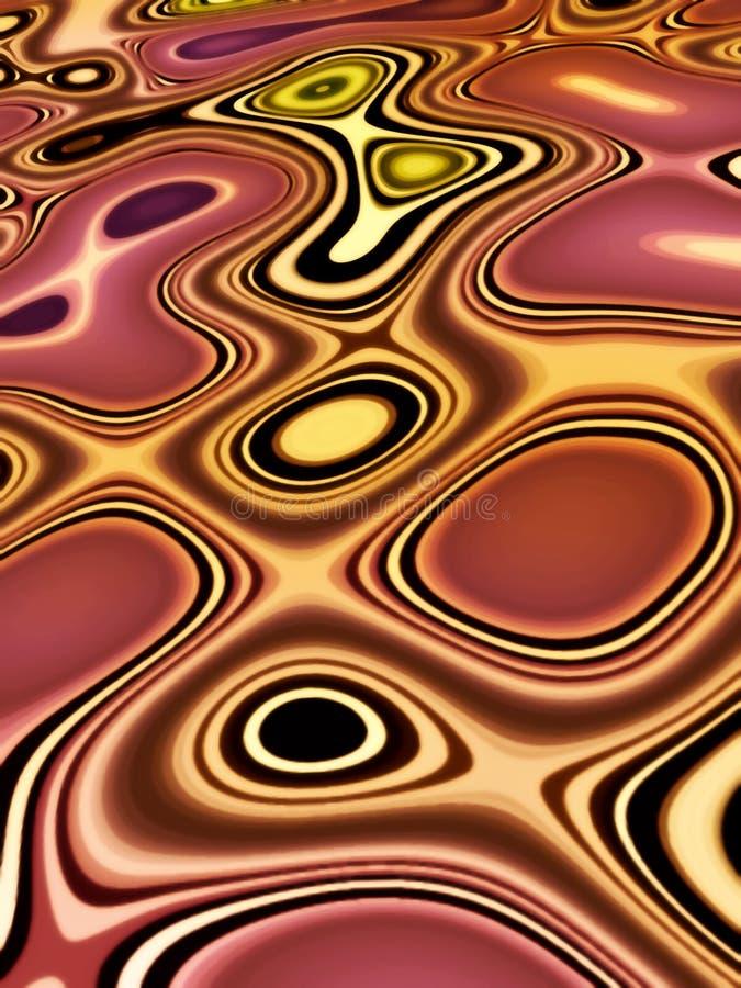 Rétro horizontal abstrait illustration de vecteur