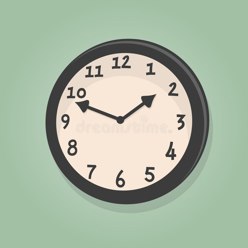 Rétro horloge de bande dessinée illustration stock