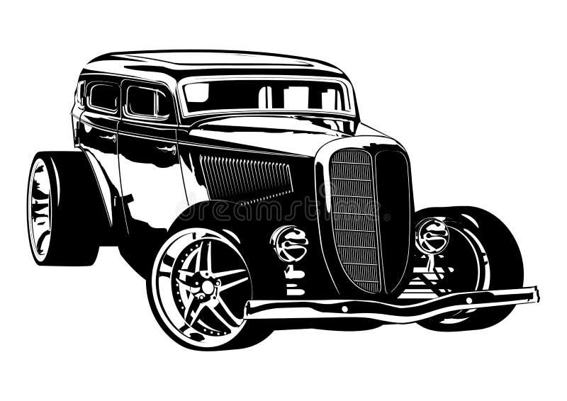 Rétro Hotrod illustration de vecteur