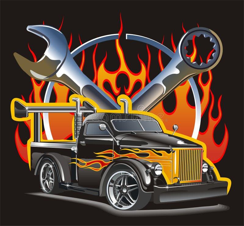 Rétro hotrod du véhicule GAZ-51 illustration libre de droits