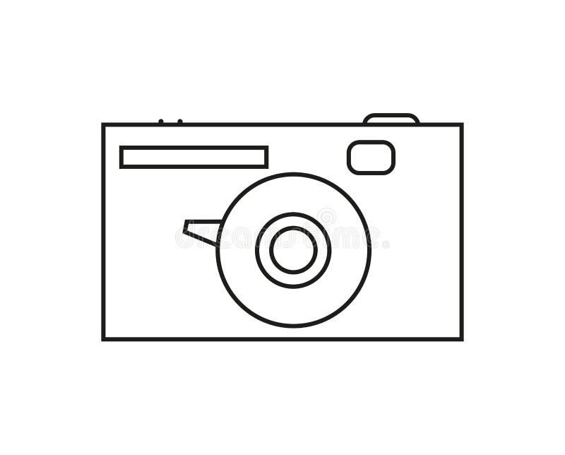 Rétro icône d'appareil-photo dans la découpe illustration de vecteur