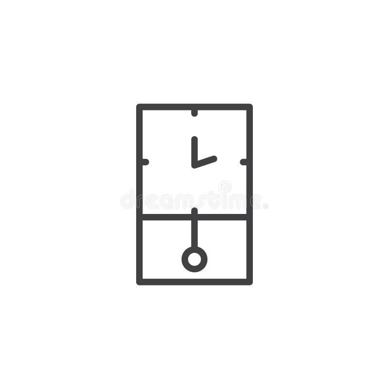 Rétro icône d'ensemble d'horloge murale illustration libre de droits