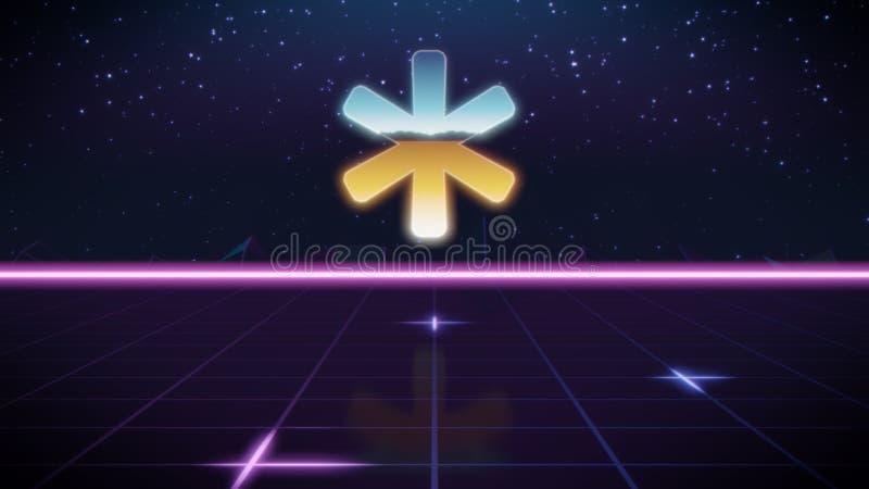 rétro icône de conception de synthwave d'astérisque illustration de vecteur