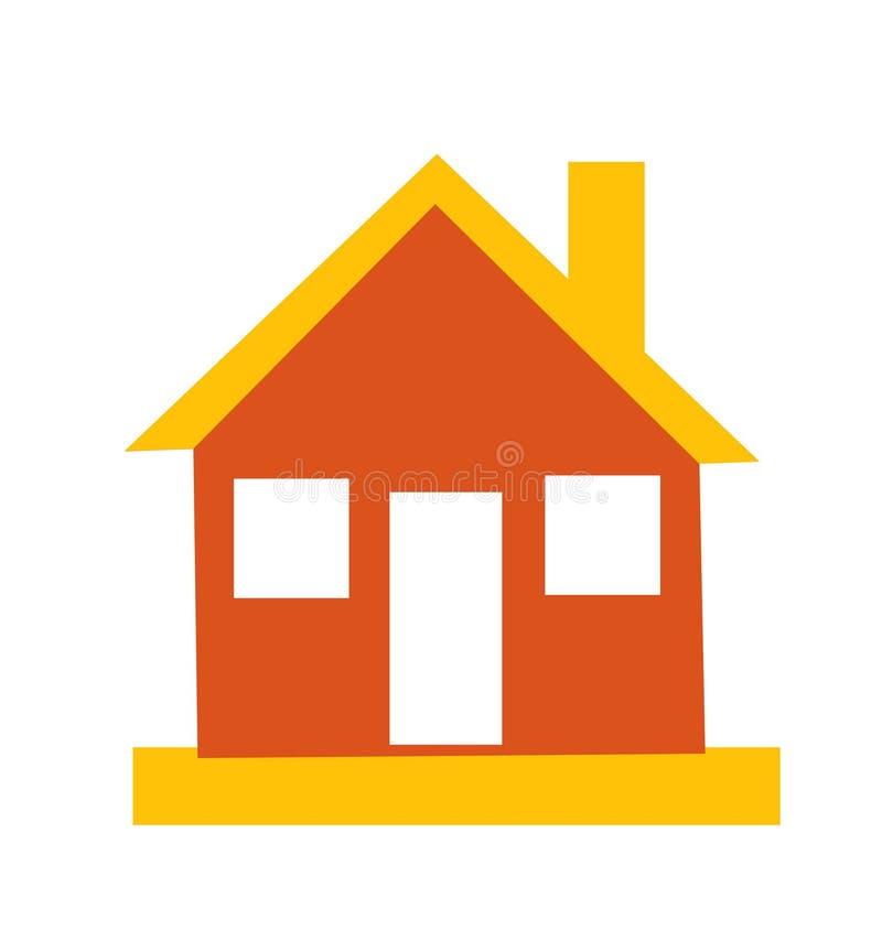 Rétro icône de maison de style illustration de vecteur