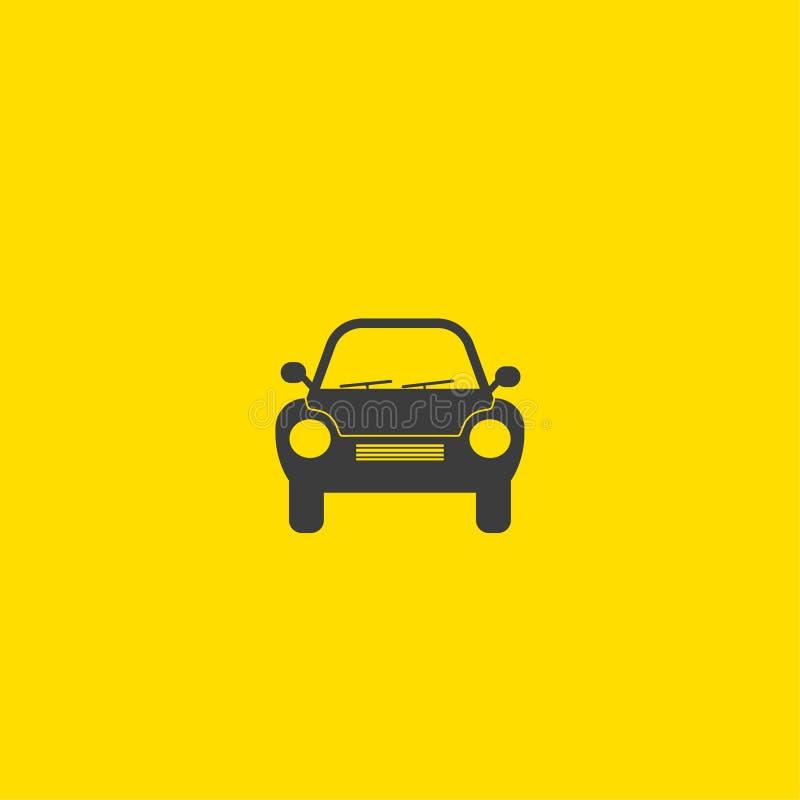Rétro icône générique de vue de face de silhouette de voiture illustration stock