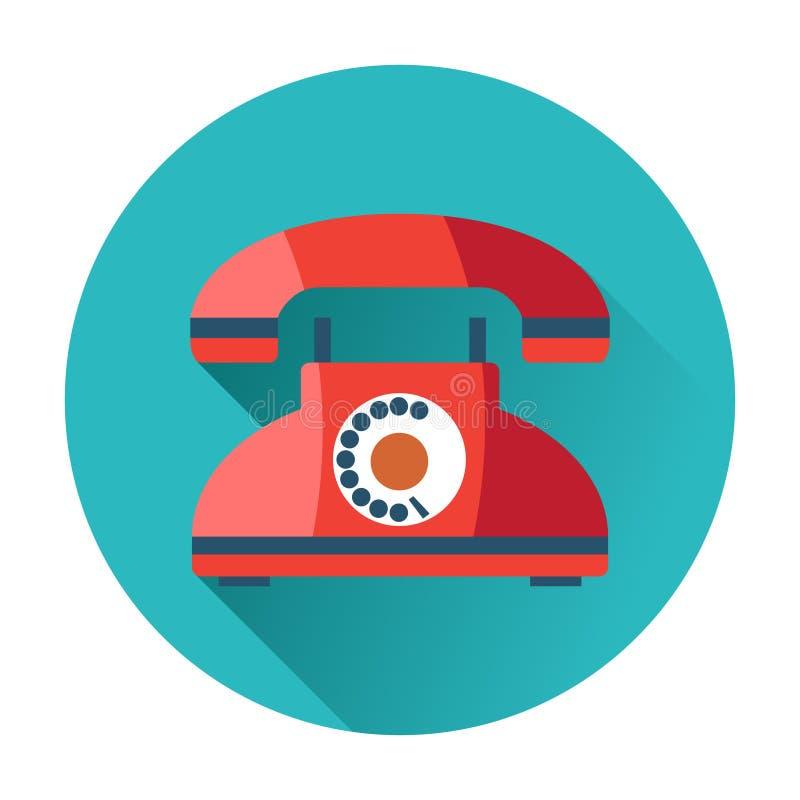 Rétro icône de téléphone illustration stock