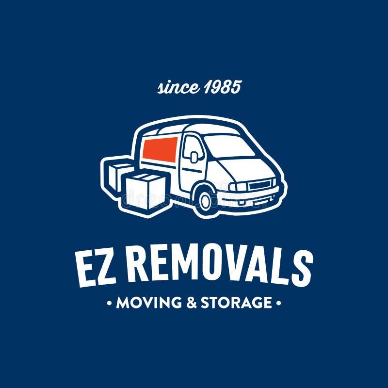 Rétro illustration de camion et de boîtes illustration de vecteur