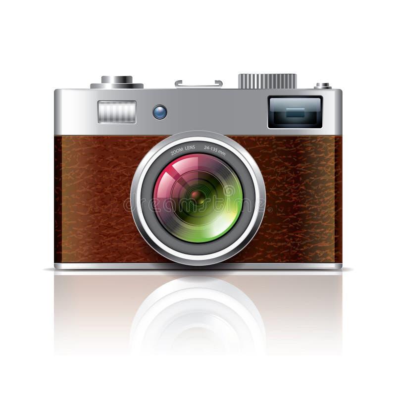 Rétro illustration de vecteur d'appareil-photo de photo illustration stock