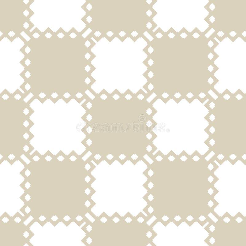 Rétro illustration du cru background Modèle sans couture géométrique minimal de vecteur avec des places illustration de vecteur