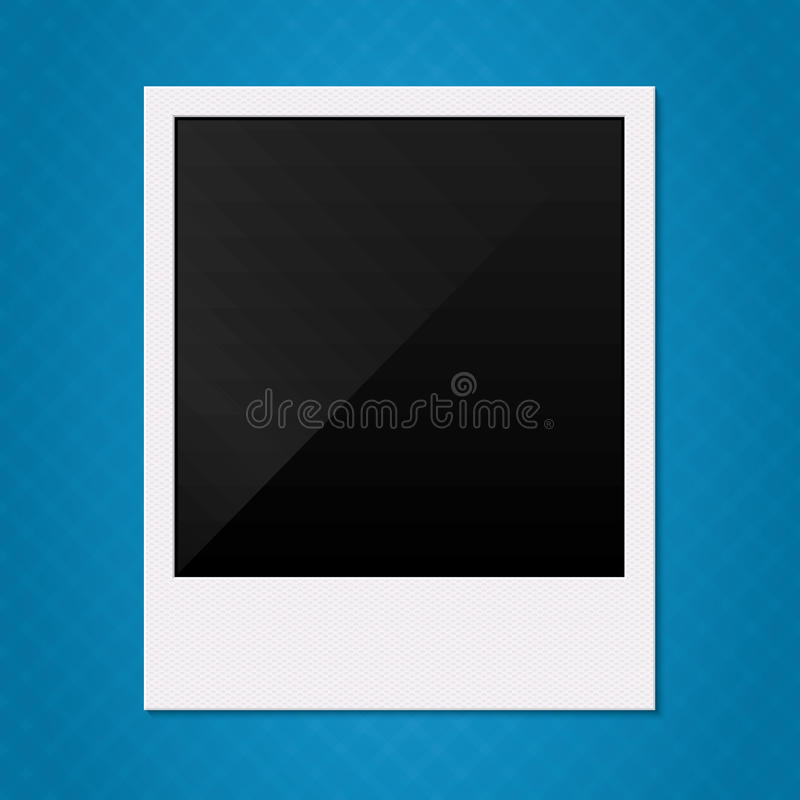 Rétro illustration polaroïd vide de cadre de photo. illustration stock