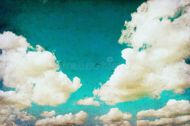 Rétro image de ciel illustration libre de droits