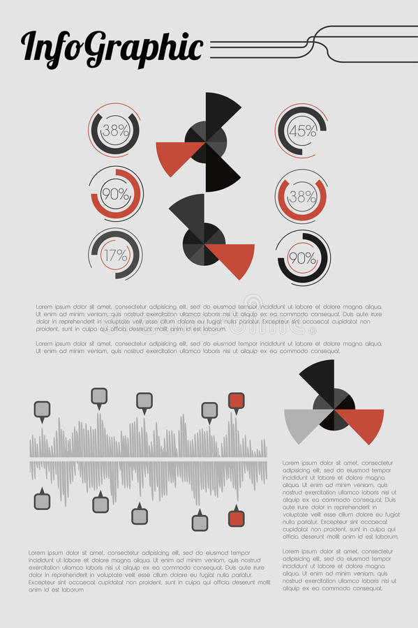 Rétro Infographic illustration de vecteur