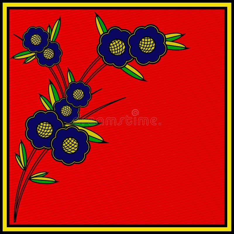 Rétro insecte floral photographie stock