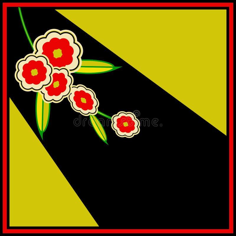 Rétro insecte floral photographie stock libre de droits