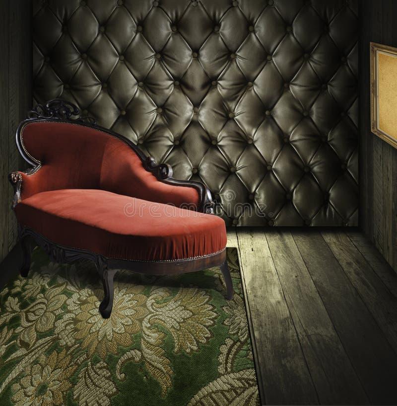 Rétro intérieur de luxe de pièce photo libre de droits