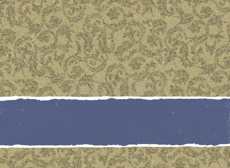Rétro invitation colorée d'or. illustration stock