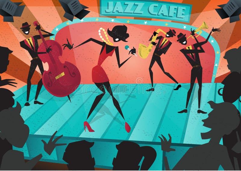 Rétro Jazz Festival Poster abstraite illustration de vecteur