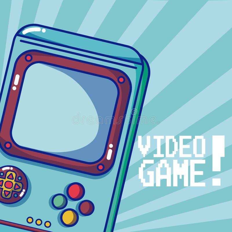 Rétro jeu vidéo portatif illustration de vecteur