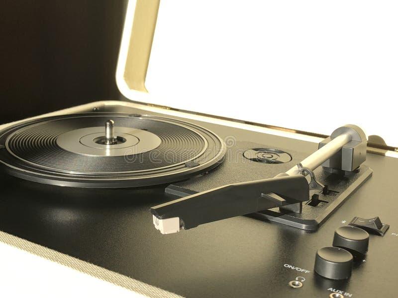 Rétro joueur de disque vinyle image stock