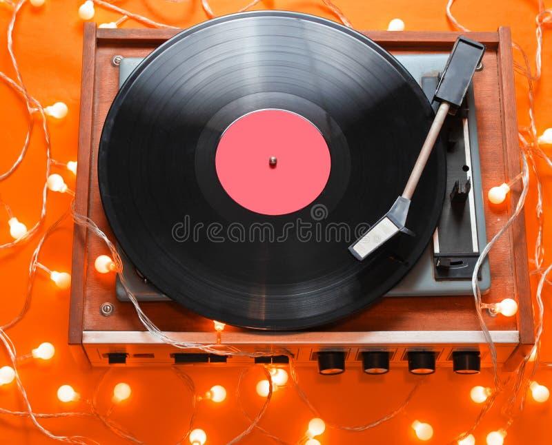 Rétro joueur du vinyle 80s images libres de droits